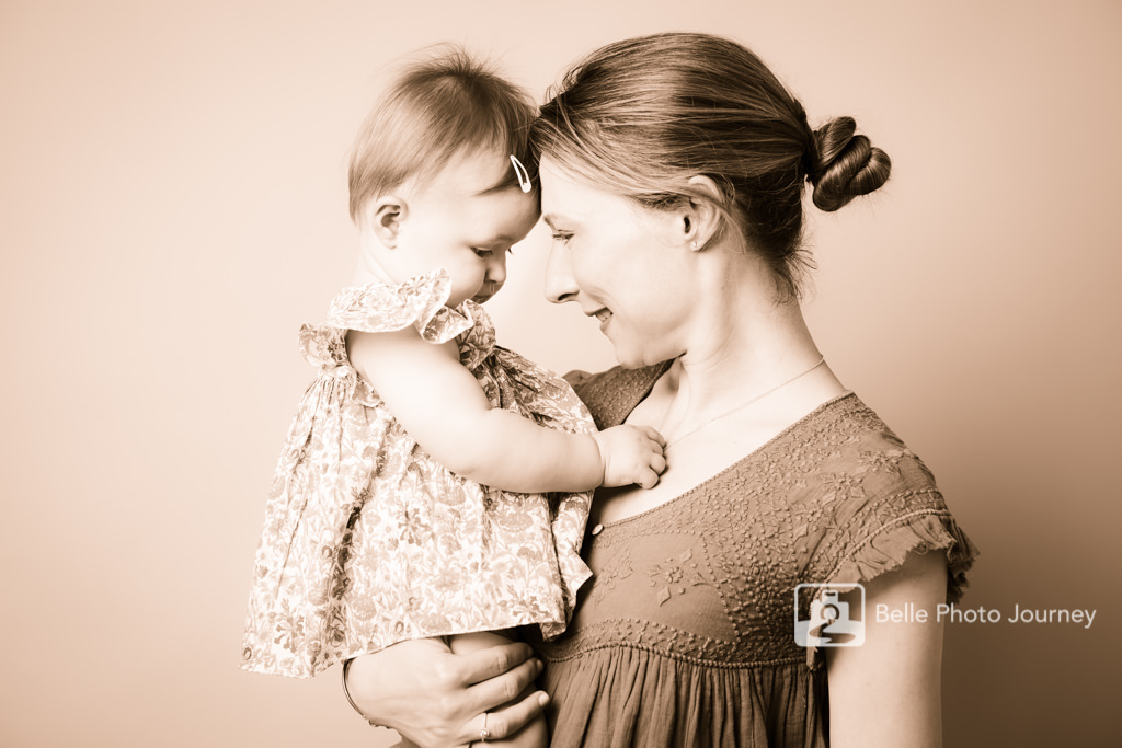 mother young baby daughter studio portrait crouch end photographer
