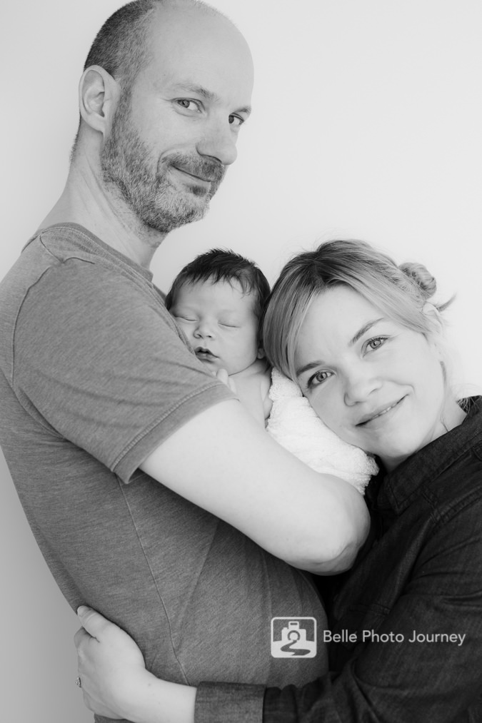 new born with daddy and mummy north london