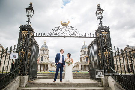 Wedding portrait royal naval college greenwich