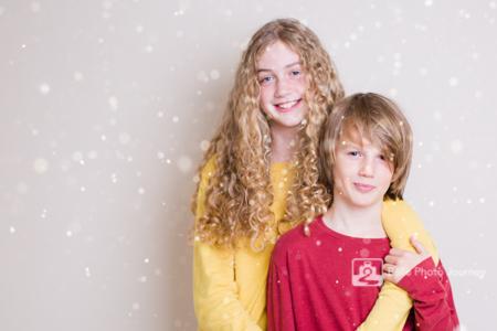Children photo posing for christmas
