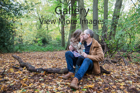 Daddy and daughter = portrait photo - Highgate Woods