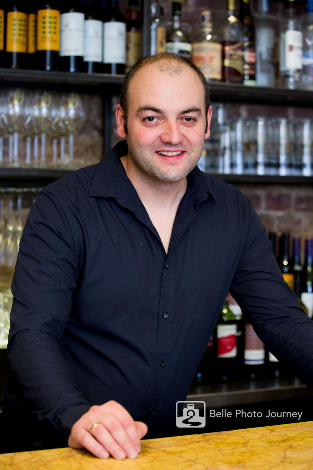 bartender at work portrait