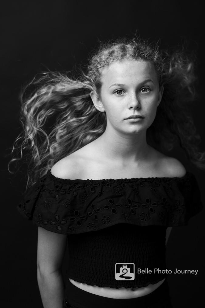 Teenage model actress spotlight portfolio photographer