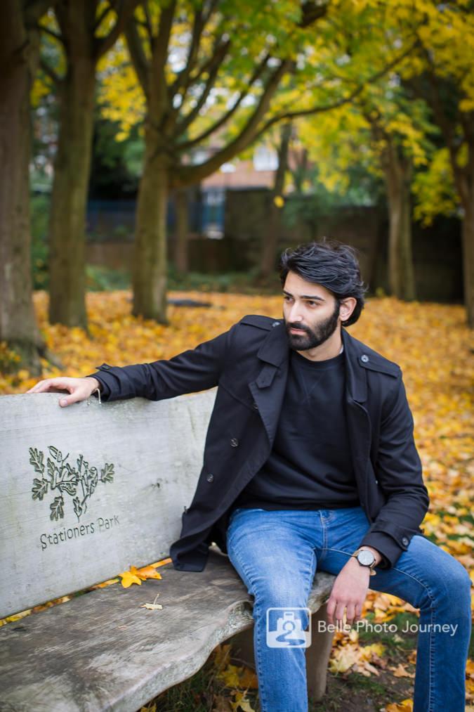 autumn outdoor portrait stationers park crouch end