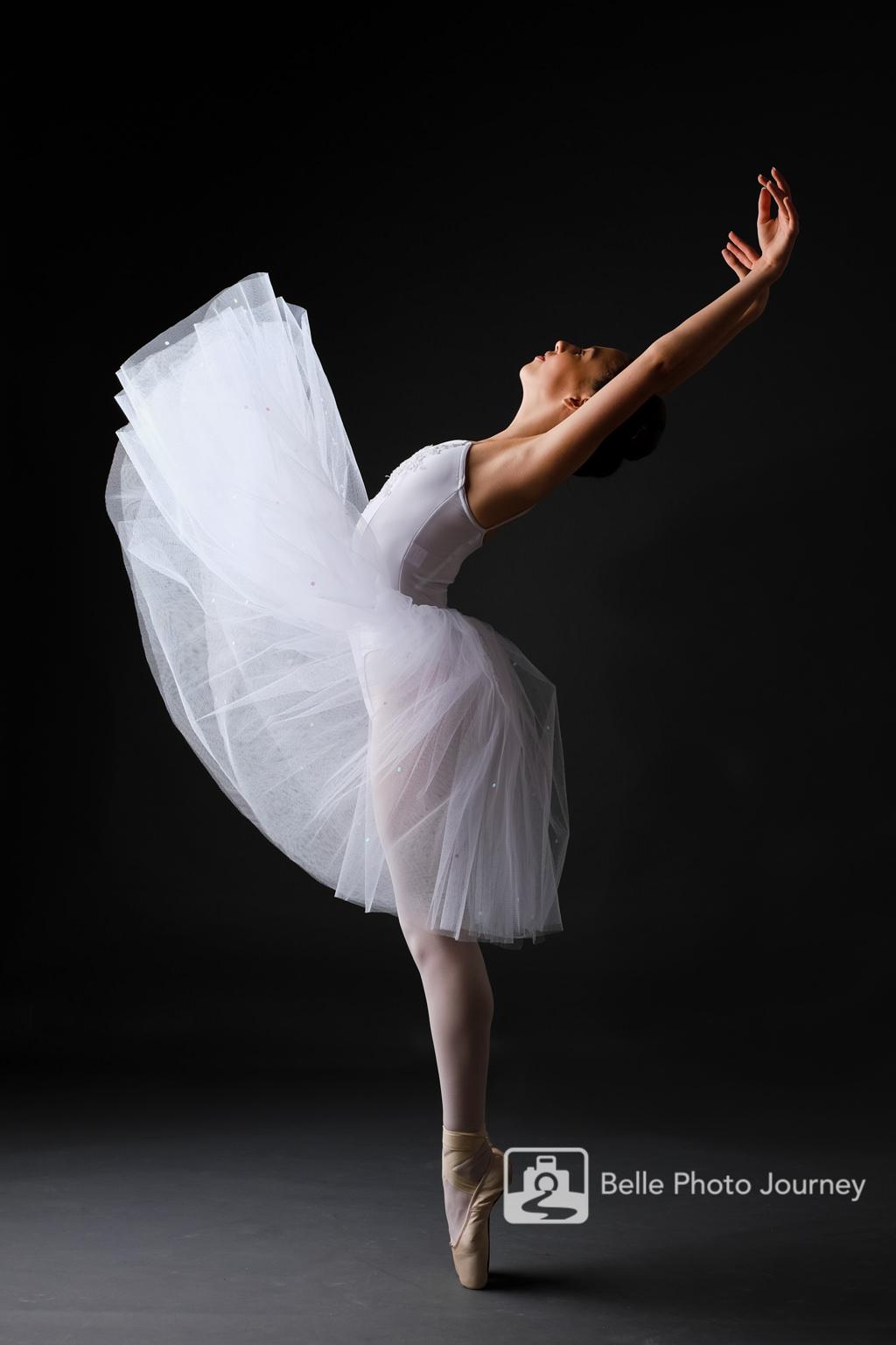 ballerina dance pose in action portrait