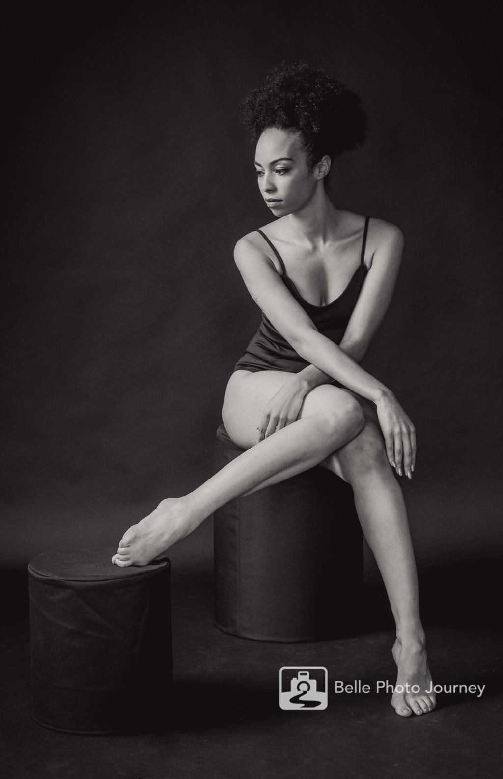 black & white sensual photo carribbean model highgate photographer