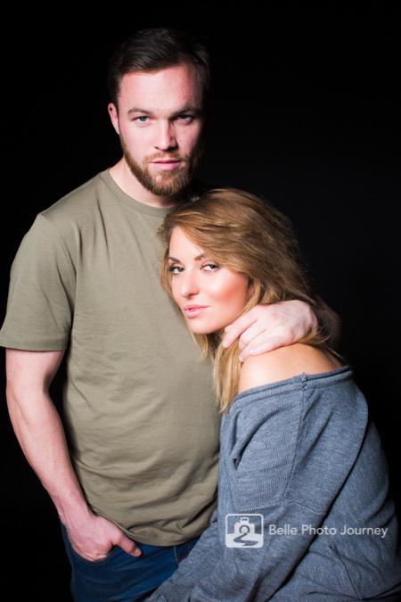 cool couple engagement studio portrait crouch end photographer