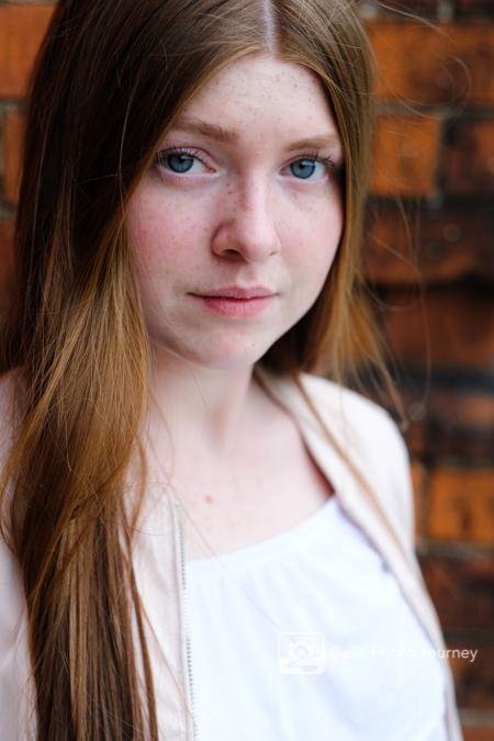 teenage girl portrait brick wall hyde park london