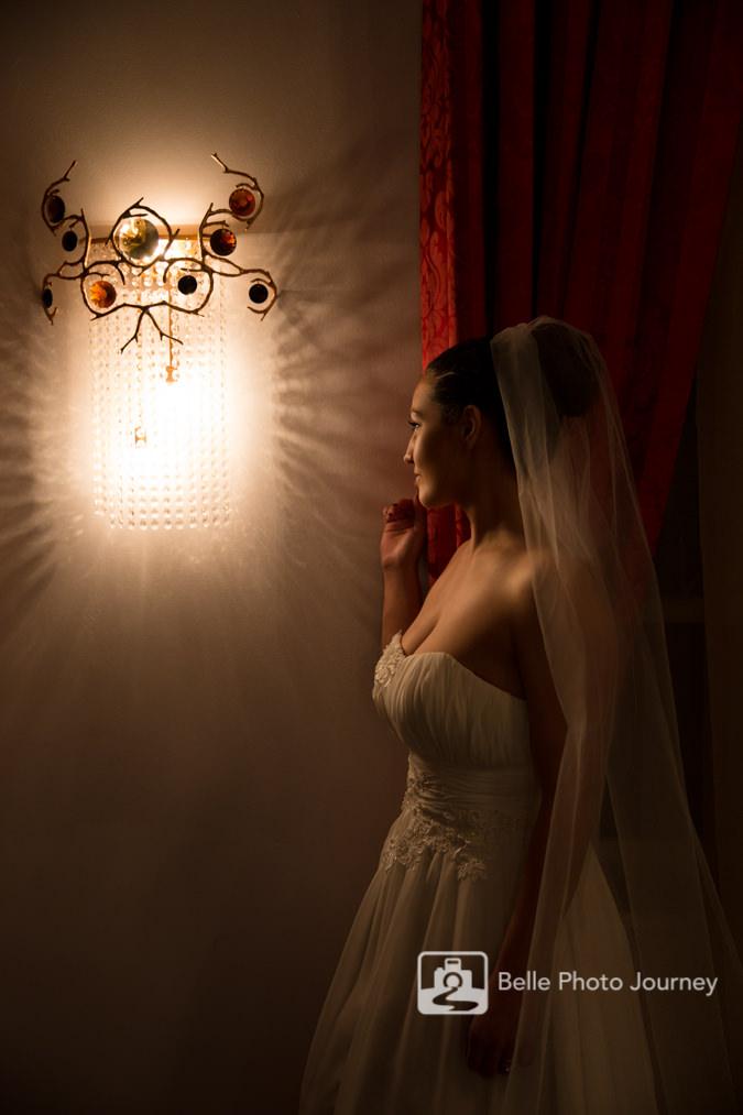 london bridal portrait wall light