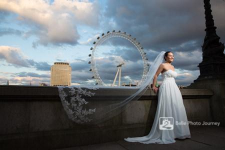london icon wedding portrait london eye westminister