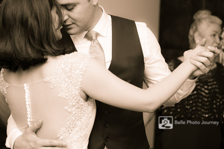wedding first dance couple intimate candid photo