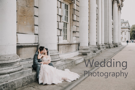 Painted hall royal naval college wedding portrait photo